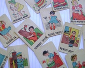 little and sweet vintage childrens cards UniQUe vINtaGe ephemera and embellishments
