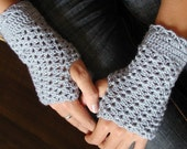 Crocheted Fingerless Mittens - PDF Crochet Pattern