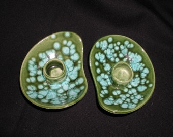 Vintage Funky Home Made Candle Holders 1960