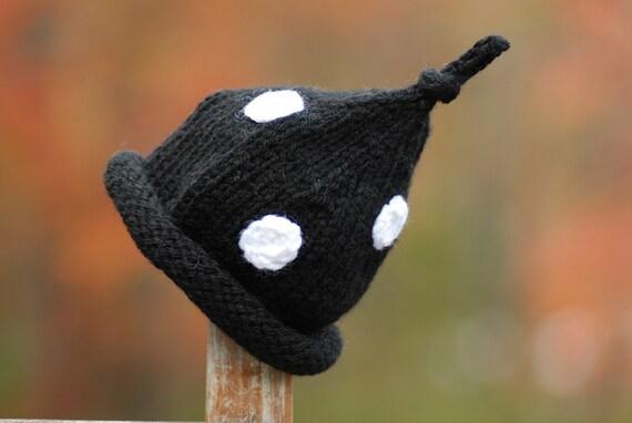 Newborn Infant Baby Black and White Polka Dot Bonnet Boutique Hat Photo Prop