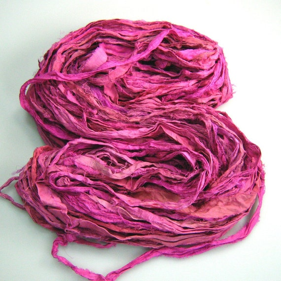 WH Silk Sari Ribbon Called Pretty in Pink NEW shade