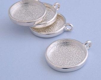 1pcs 25mm silver tone round Pewter blank Pendant Tray bezel