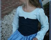 Custom Little Mermaid Blue Dress