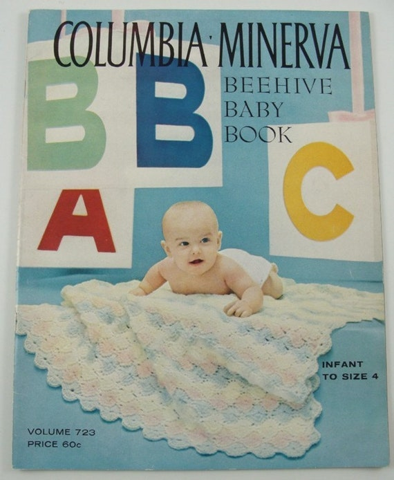 COLUMBIA MINERVA BEEHIVE BABY Crochet and Knitting Patterns Book  Infant to Size 4