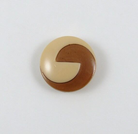 Vintage Art Deco Two Tone Glass Button