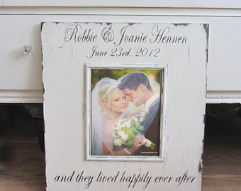 VINTAGE Custom WEDDING frame Cottage Chic