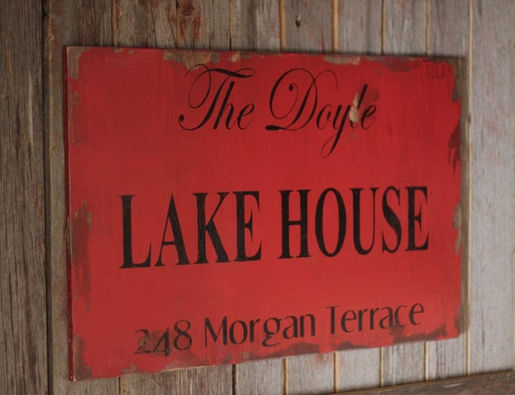Personalized Lake House 24 x 15 1/2 YOUR CUSTOM COLORS