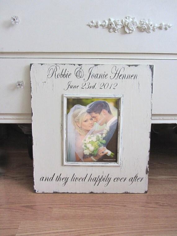 VINTAGE Custom WEDDING frame Cottage Chic
