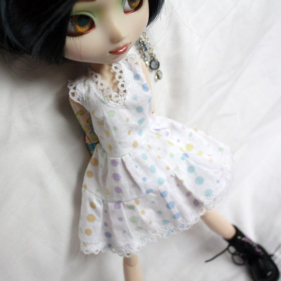 Rainbow Dotty Dress For Pullip Blythe