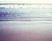 Ocean Photography -  gentle waves - water wall art - beach photography - soft mauve pale purple sea decor 8x10 print
