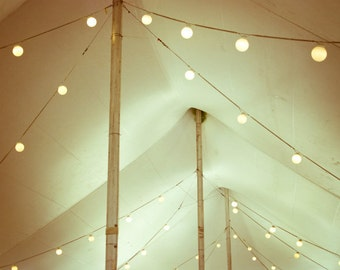 Circus tent print carnival photography string of lights cream beige neutral wall decor 'Circus Tent'