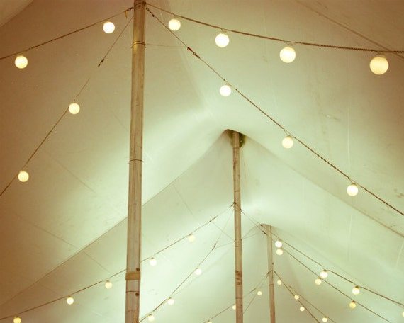 String Lights Tent Wedding : Circus tent print carnival photography string of lights cream