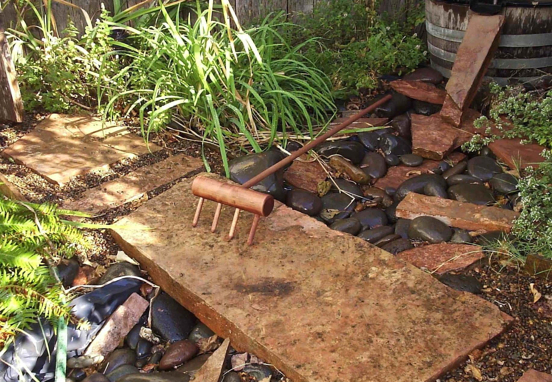 full size zen garden rake handmade in oregon