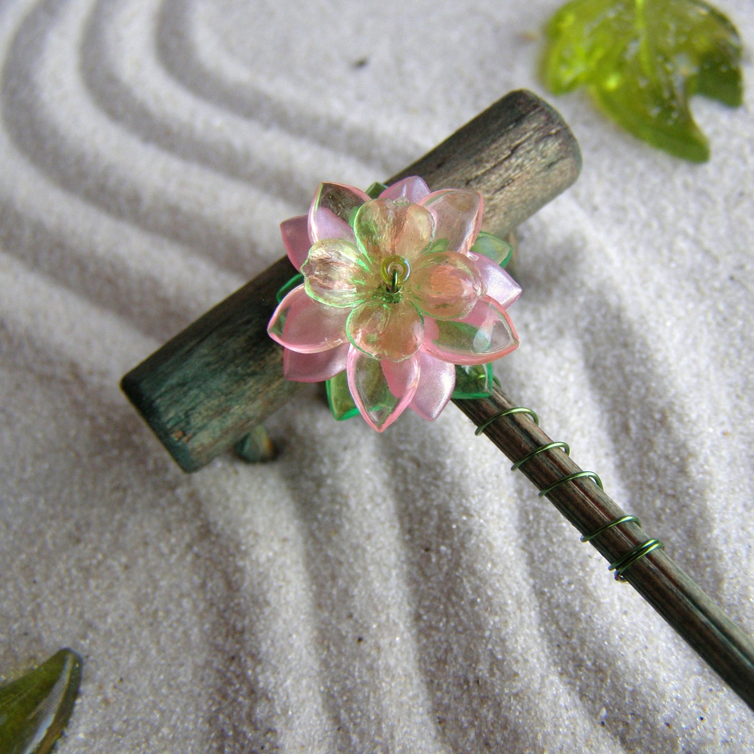 Mini tabletop zen garden rake handmade in oregon by themudmom for Table zen garden