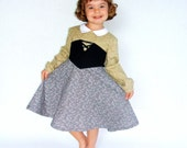 Sleeping Beauty Briar Rose PRINCESS Aurora dress in grey soft green and black Tinkerella custom boutique size 2T to 6X