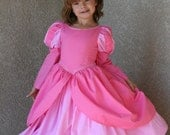 Ariel Pink mermaid  dress for your little one size from 12 months to 8 years Tinkerella Creations