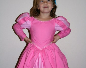Ariel Pink mermaid style dress for your girl size 10/12 by Tinkerella Creations