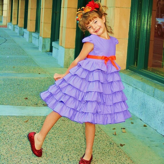 Oh So Fancy Nancy lavender RUFFLES dress perfect for your little one to dress up as their favorite literary character by TinkerellaCreations