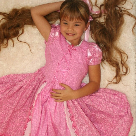 The Tangled Princess dress for lovely little RAPUNZEL from TinkerellaCreations in lavender or pink