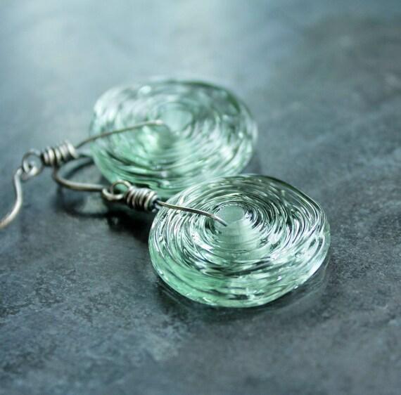Lampwork Earrings - Oxidized Silver, Sterling Silver, Handmade Earrings, Glass Earrings, Lampwork Jewelry