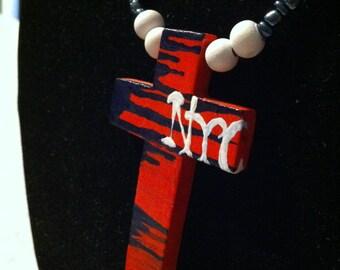 Hand painted Wood cross ''NYC''