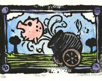 When Pigs Fly  Blockprint