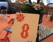 Custom Pinwheel Table Number Sign - Set of 6