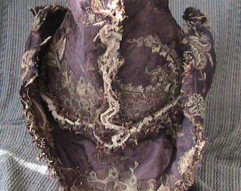 purple tapestry hat