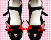 Kitty Cat Mary Jane Shoes - Size 4