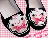 Cupcake Shoes - Pink Sweet Dessert Mary Janes - Ladies Size 6