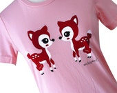 Deer Shirt - Kawaii Fawn T-Shirt - Available in Ladies sizes S, M, L, XL