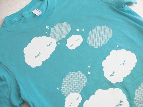 Sleepy Clouds Ladies T-Shirt - Size Medium - CLEARANCE