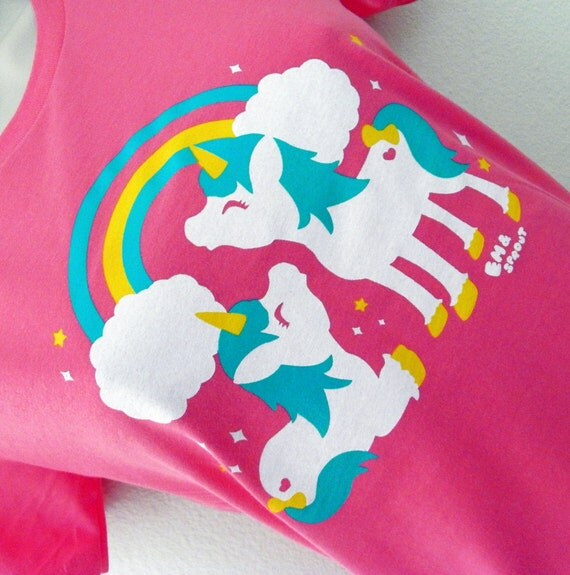 Cute Unicorns Ladies Shirt - Available in size SMALL - CLEARANCE