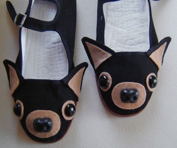 Chihuahua Mary Janes Shoes - Size 8
