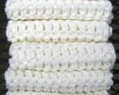 Crochet WashCloths, Spa Cloth, DishCloths, Dish Rags - Eco Friendly and Green - Set of 8, Baby Washcloths