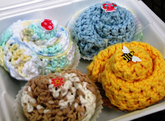 Annabelle's Cupcake Washcloths - Assortment of 4