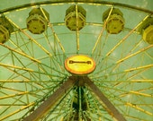 Ferris Wheel Photograph, Carnival Photography, Nursery Art, Kids Room Decor, State Fair, Green Nursery Decor, Home Decor - Star Gazing