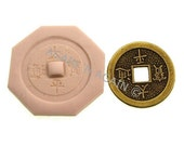 MOLD -  CHINESE COIN   3 - Handcrafted Polymer Clay Mold