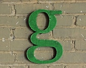 The Letter g handmade wood sign - wall decoration alphabet for vintage or modern decor