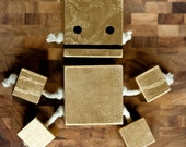 Goldieblocks- Limited Edition Sculpture Toy from Reclaimed Wood
