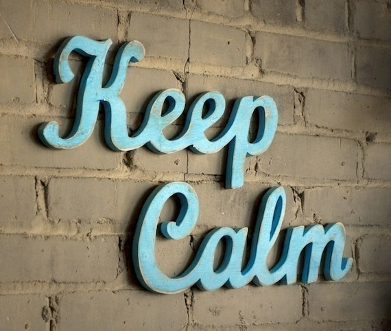 KEEP CALM recycled-wood sign