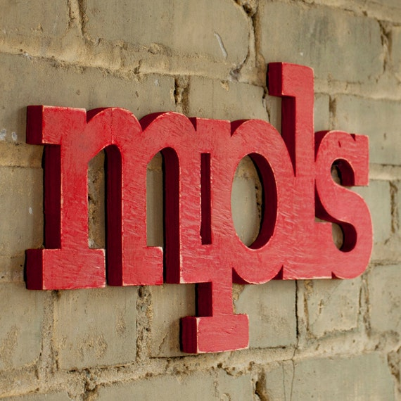 mpls - minneapolis - handmade wood sign