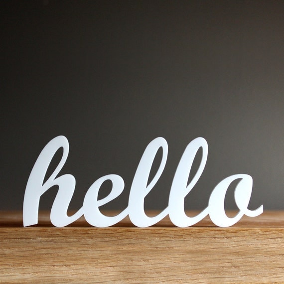 hello acrylic sign for modern office entryway bedroom decor