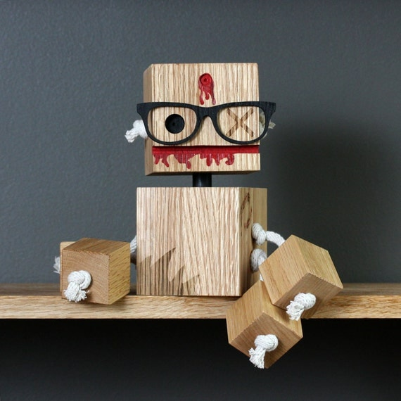 Blocking Dead Zombie bot- Limited Edition Toy from Reclaimed Wood