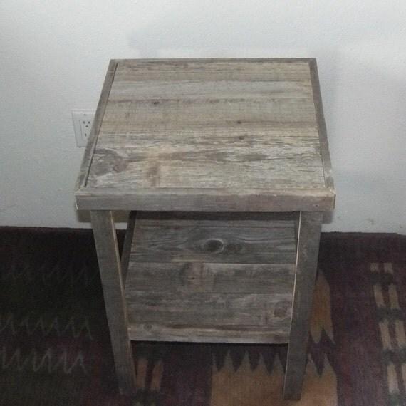 Barnwood furniture end table primitive decor