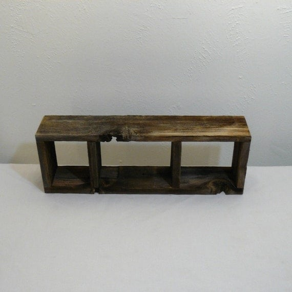 Simple barnwood  shadow box 3 compartment