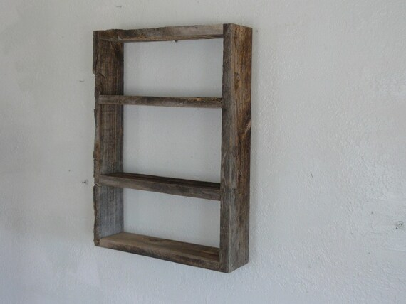 Rustic Barnwood Wall Shelf 16 By 22 Recycled Wood By