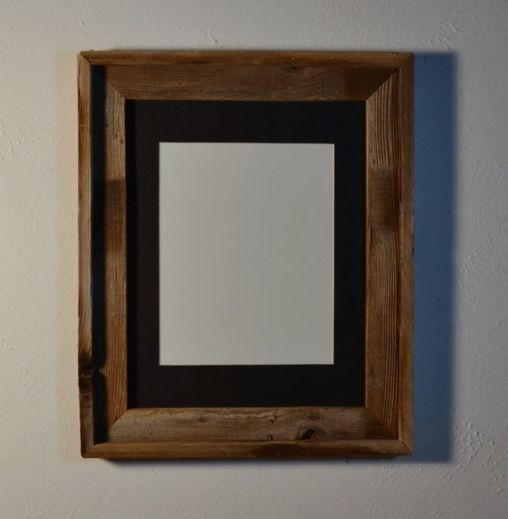 Gorgeous Barn Wood Frame 11x14 With An 8x10 Black Mat Glass