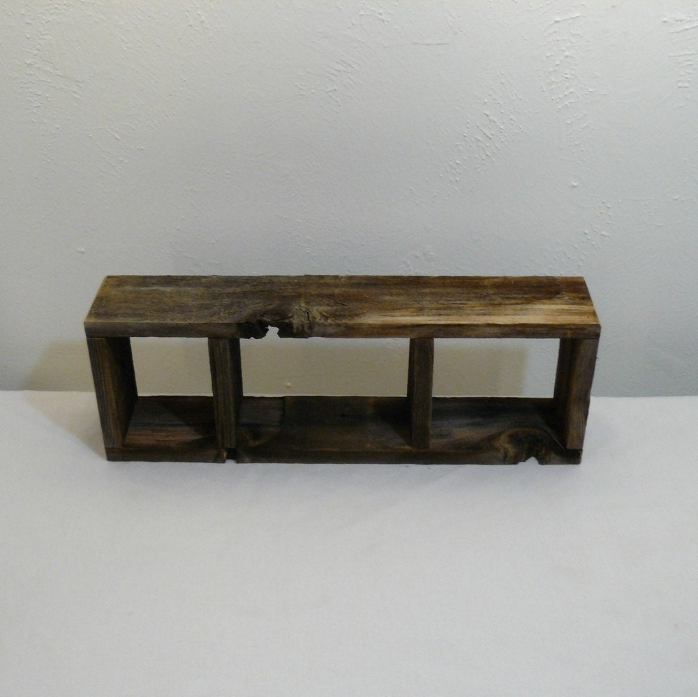 Simple Barnwood Shadow Box 3 Compartment By Barnwood4u On Etsy