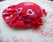 Magnet Heart Hat Bonnet Handmade Red White Gift Tag Easter Friend Recycled Upcycled Valentine JSTSFAAP
